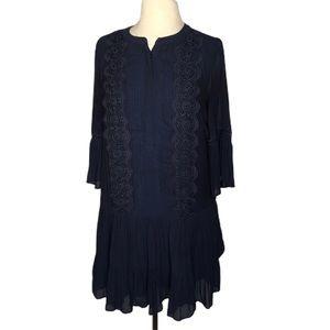 Ann Taylor Loft navy blue dress